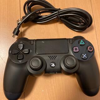 プレイステーション4(PlayStation4)のPS4純正ワイヤレスコントローラ 黒 USBケーブル 簡易動作品(その他)