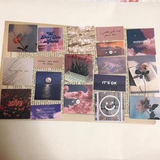 海外 写真 ステッカー ピンク 30枚(印刷物)