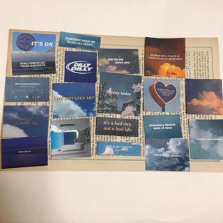海外 写真 ステッカー ブルー 30枚(印刷物)