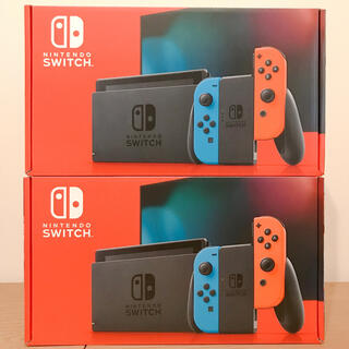 ニンテンドースイッチ(Nintendo Switch)の【新品・未開封】ニンテンドースイッチ 本体 ネオン 2台 セット(家庭用ゲーム機本体)