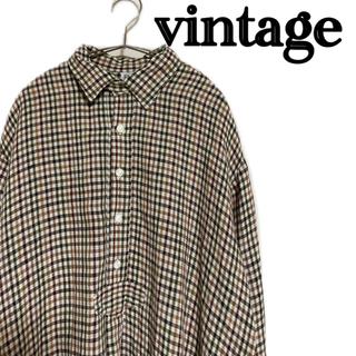 ジュンヤワタナベコムデギャルソン(JUNYA WATANABE COMME des GARCONS)の【vintage】80s シャツ ギンガムチェック オーバサイズシャツ(シャツ)