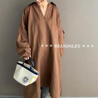 ビアズリー(BEARDSLEY)の26400円 BEARDSLEY ビアズリー 袖ボリュームスキッパーワンピース(ひざ丈ワンピース)