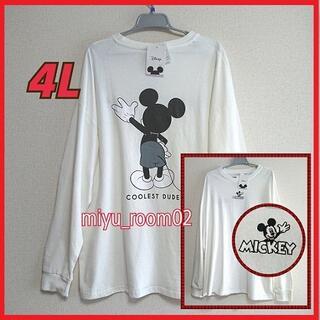 ミッキーマウス(ミッキーマウス)の【新品☆】 ミッキー ロンT(長袖シャツ)ゆったり☆4L(Tシャツ/カットソー(七分/長袖))
