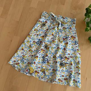 ツモリチサト(TSUMORI CHISATO)のTSUMORI CHISATO ツモリチサト 腰紐付き花柄総柄スカート 2 M(ひざ丈スカート)