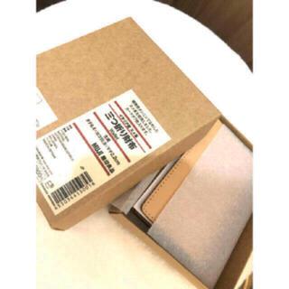 MUJI (無印良品) - 【新品】MUJI イタリア産ヌメ革は三つ折り財布