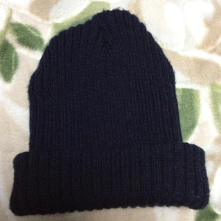 パピヨネ(PAPILLONNER)のニット帽☆ブラック(ニット帽/ビーニー)