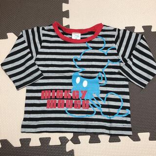 Disney - 美品 Disney Mickey ミッキーマウス  長袖Tシャツ 80cm