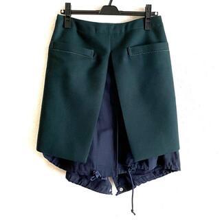 サカイ(sacai)のSacai(サカイ) ロングスカート サイズ3 L -(ロングスカート)