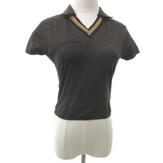 フェンディ(FENDI)のフェンディ ズッカ柄 クロップド ポロシャツ 40 Mサイズ ブラウン(ポロシャツ)