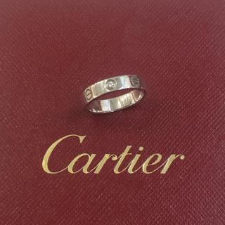 カルティエ(Cartier)の正規店購入❤️超美品❤️カルティエ 1Pダイヤミニラブリング❤️49 9号❤️(リング(指輪))