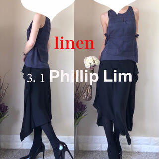 スリーワンフィリップリム(3.1 Phillip Lim)のスリーワンフィリップリム 3.1 Phillip Lim リネン ブラウス S(シャツ/ブラウス(半袖/袖なし))