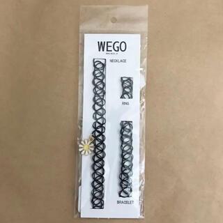 ウィゴー(WEGO)のWEGO タトゥーチョーカーセット フラワー 黒(ネックレス)