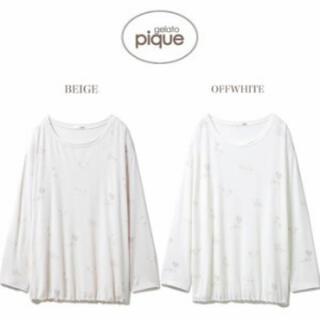 ジェラートピケ(gelato pique)のリトルキャットTシャツ(ルームウェア)