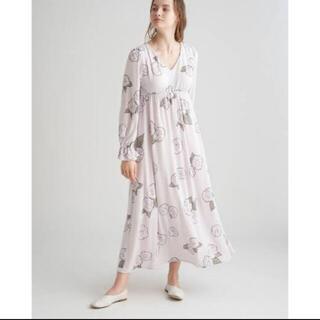 ジェラートピケ(gelato pique)の椿柄ドレス(ルームウェア)