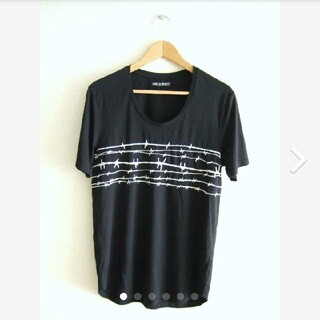 ニールバレット(NEIL BARRETT)のNeIL Barrett ニールバレット有刺鉄線 刺繍 Tシャツ M(Tシャツ/カットソー(半袖/袖なし))