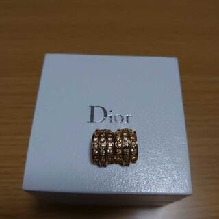 ディオール(Dior)のDior ディオール ラインストーンゴールドイヤリング(イヤリング)