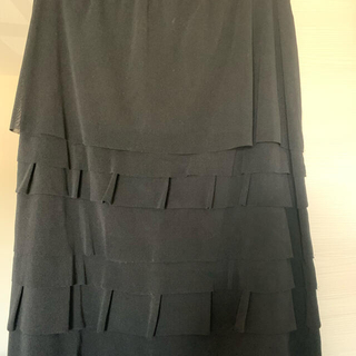 ヴィヴィアンタム(VIVIENNE TAM)のヴィヴィアンタム Vivienne tam 黒のパワーネットスカート(ひざ丈スカート)
