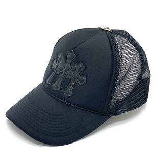 クロムハーツ(Chrome Hearts)のクロムハーツ セメタリ―クロスパッチ メッシュキャップ 帽子 ブラック(ニット帽/ビーニー)