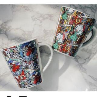 ジブリ(ジブリ)の耳をすませば ハウルの動く城 ステンドグラス風マグカップ(グラス/カップ)