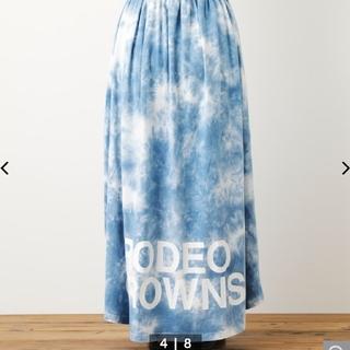 ロデオクラウンズワイドボウル(RODEO CROWNS WIDE BOWL)のロデオクラウンズワイドボウル タイダイロゴスカート 新品未使用(ロングスカート)
