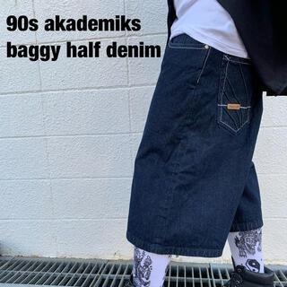 アカデミクス(AKADEMIKS)のAkademiks アカデミクス ハーフデニムパンツ バギーパンツ HIPHOP(デニム/ジーンズ)