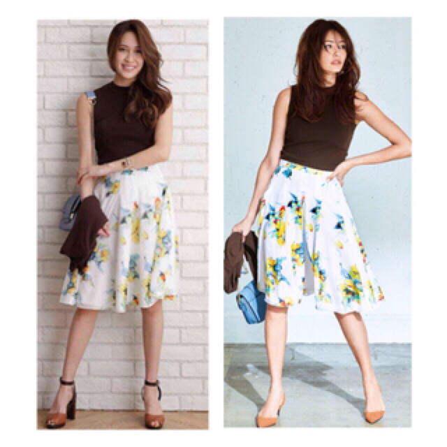 JUSGLITTY(ジャスグリッティー)のジャスグリッティー リゾートフラワースカート レディースのスカート(ひざ丈スカート)の商品写真