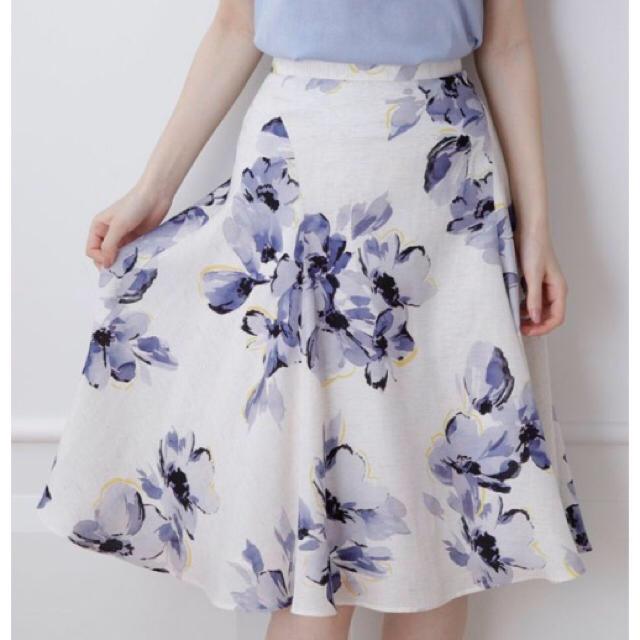 Mystrada(マイストラーダ)のマイストラーダ 大花フレアスカート レディースのスカート(ひざ丈スカート)の商品写真