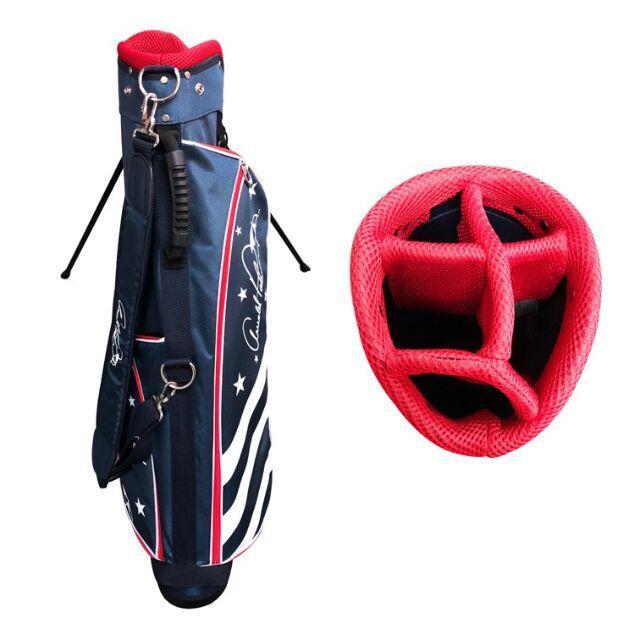 Arnold Palmer(アーノルドパーマー)の新品 アーノルドパーマー スタンド式 キャディバッグ 超軽量 NA スポーツ/アウトドアのゴルフ(バッグ)の商品写真