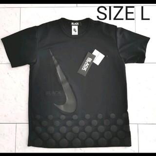 ブラックコムデギャルソン(BLACK COMME des GARCONS)のBLACK COMME des GARCONS × NIKE 半袖 L(Tシャツ/カットソー(半袖/袖なし))