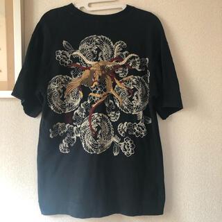 カラクリタマシイ(絡繰魂)の絡繰魂 半袖Tシャツ Mサイズ ブラック メンズ karakuri(Tシャツ/カットソー(半袖/袖なし))