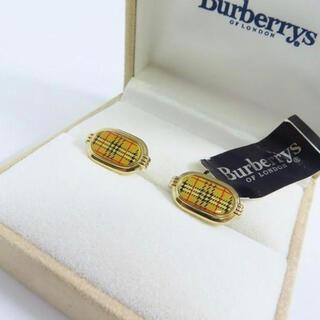 バーバリー(BURBERRY)のBurberrys/バーバリーズ グレンチェック柄 カフス ゴールド系(カフリンクス)