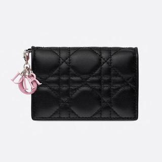 ディオール(Dior)のLADY DIOR バイカラー カードケース(名刺入れ/定期入れ)