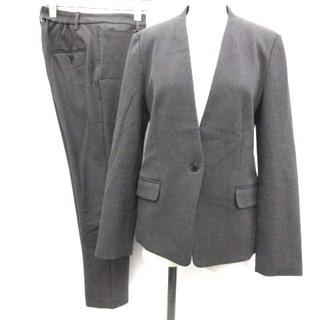 プラステ(PLST)のプラステ スーツ セットアップ ジャケット ノーカラー パンツ M グレー (スーツ)