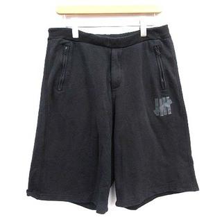アンディフィーテッド(UNDEFEATED)のアンディフィーテッド スウェット ハーフパンツ ロゴ ショートパンツ S 黒(ショートパンツ)