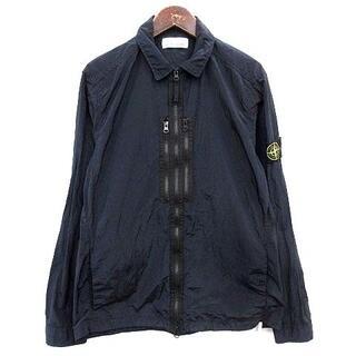 ストーンアイランド(STONE ISLAND)のストーンアイランド ナイロンメタルオーバーシャツ ジャケット L ネイビー (ブルゾン)