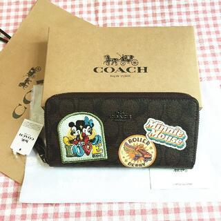コーチ(COACH)のCOACH/コーチ長財布 F31350 ディズニーコラボ ミニーパッチ(財布)