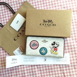 コーチ(COACH)のCOACH/コーチ長財布 F3733 ディズニーコラボ ミッキーパッチ(財布)
