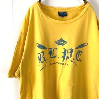 ポロラルフローレン(POLO RALPH LAUREN)のポロラルフローレン ボートハウス Tシャツ イエロー 黄色 L 古着(Tシャツ/カットソー(半袖/袖なし))