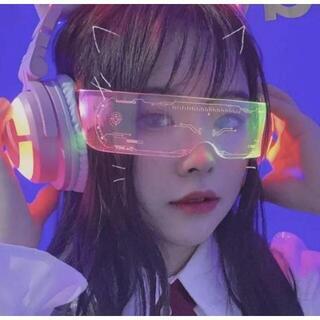 ゴーグル コスプレ アニメ サイバー パンク 眼鏡 めがね メガネ LED(小道具)