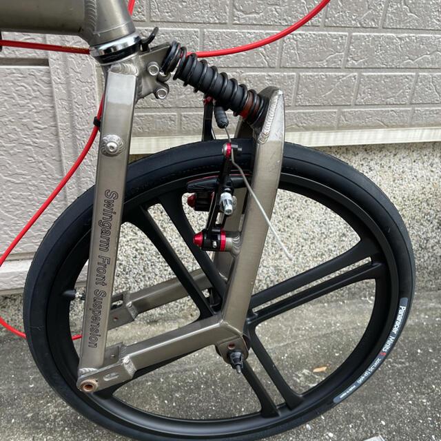 DAHON(ダホン)の✰人気のBD-1✰フレーム・ハンドル・カンチブレーキ・シートポスト付き!!✰ スポーツ/アウトドアの自転車(自転車本体)の商品写真