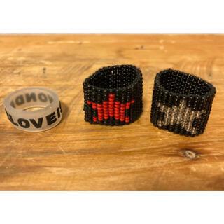 FF  ビーズリング2個セット 指輪(ゴムリングはおまけ)(ミュージシャン)