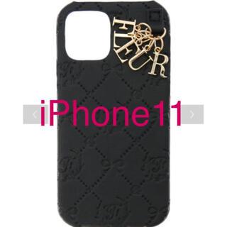 メゾンドフルール(Maison de FLEUR)のメゾンドフルール モノグラムアイフォン11ケース iPhone(iPhoneケース)
