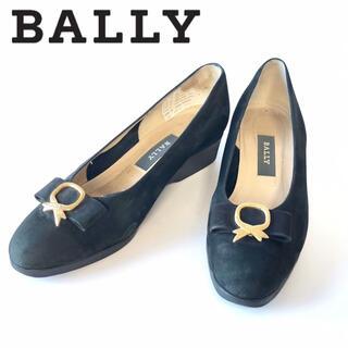 バリー(Bally)のBALLY パンプスヒール3.5cm リボンスエード ブラック黒色レディース(ハイヒール/パンプス)