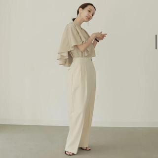 louren drape cape blouse beige(シャツ/ブラウス(長袖/七分))