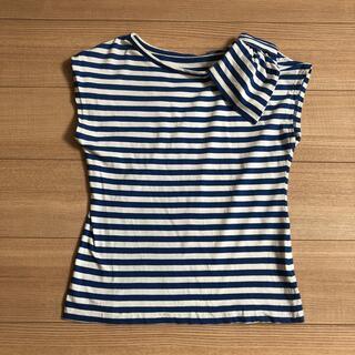 ジェーンマープル(JaneMarple)のJane Marpleリボン付ボーダーTシャツ(Tシャツ(半袖/袖なし))