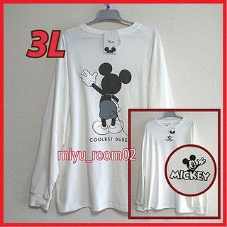ミッキーマウス(ミッキーマウス)の【新品☆】 ミッキー ロンT(長袖シャツ)ゆったり☆3L(Tシャツ/カットソー(七分/長袖))