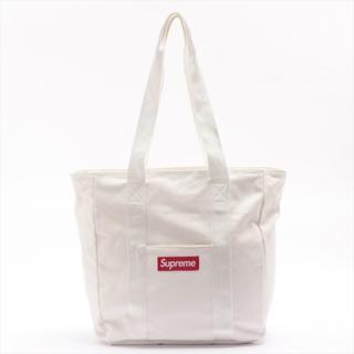 シュプリーム(Supreme)のシュプリーム  キャンバス  ホワイト ユニセックス トートバッグ(トートバッグ)