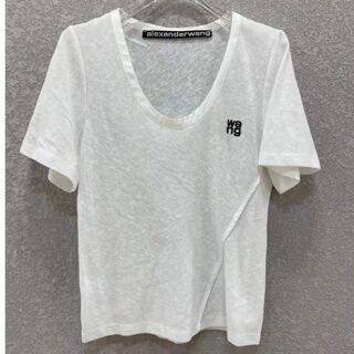 アレキサンダーワン(Alexander Wang)のAlexander Wang アレキサンダーワン 刺繍 透け感あり Uネック(Tシャツ(半袖/袖なし))