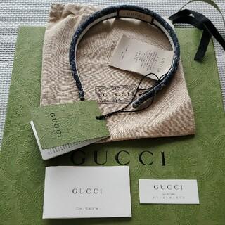 グッチ(Gucci)の【完売品】GUCCI GG デニム カチューシャ ヘアバンド(カチューシャ)