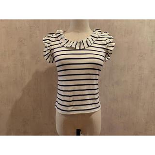 ダズリン(dazzlin)の肩フリル ボーダー トップス(Tシャツ(半袖/袖なし))